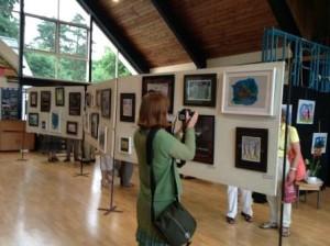 Paintings were beautifully displayed